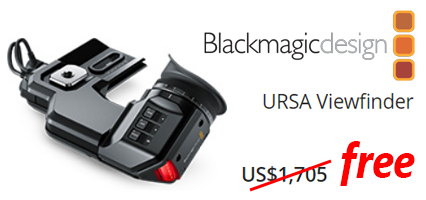 АКЦИЯ! Blackmagic URSA Viewfinder бесплатно